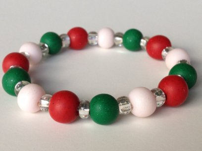 Christmas Sparkle https://www.etsy.com/listing/169905585/christmas-polymer-clay-bead-bracelet-red?ref=shop_home_active