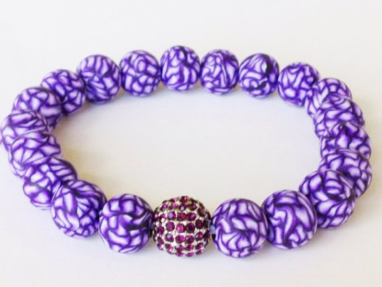 Shaded Purple Shamballa https://www.etsy.com/listing/158231154/shamballa-bracelet-polymer-clay-beads?ref=shop_home_active_5