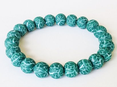 Emerald Crackle https://www.etsy.com/listing/163503662/polymer-clay-beads-bracelet-emerald?ref=shop_home_active
