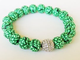 Green Basket Weave Shamballa https://www.etsy.com/listing/158231040/shamballa-bracelet-polymer-clay-beads?ref=shop_home_active