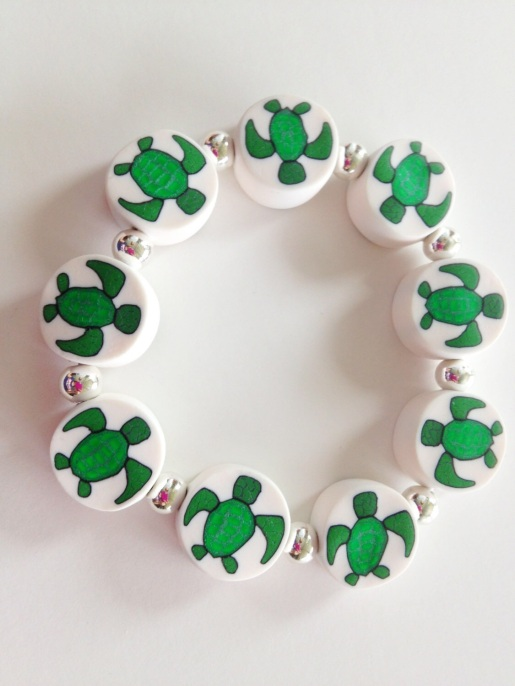 Sea Turtle https://www.etsy.com/listing/152361127/sea-turtle-polymer-clay-beads-bracelet?ref=shop_home_active_9