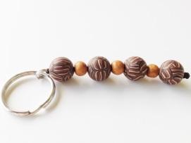 Brown Stripe Keychain