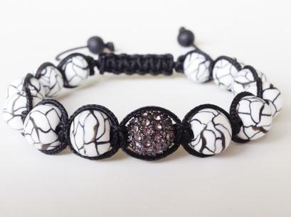 Faux Howlite Shamballa https://www.etsy.com/listing/154242571/shamballa-bracelet-black-and-white?ref=shop_home_active_17