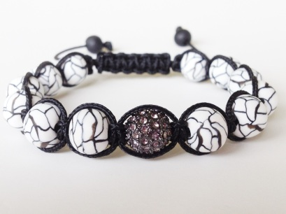 Faux Howlite Shamballa https://www.etsy.com/listing/154242571/shamballa-bracelet-black-and-white?ref=shop_home_active_17