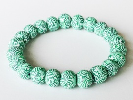 Preppy Green Stripes https://www.etsy.com/listing/163273837/polymer-clay-beads-bracelet-striped?ref=shop_home_active_2