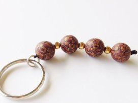 Golden Mosaic Keychain https://www.etsy.com/listing/155018860/keychain-brown-and-gold-mosaic-polymer?ref=shop_home_active