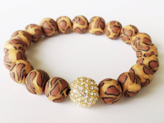 Golden Leopard/Cheetah https://www.etsy.com/listing/155528413/shamballa-bracelet-leopard-print-polymer?ref=shop_home_feat