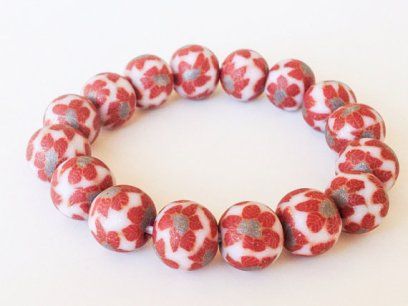 Poinsettia https://www.etsy.com/listing/165550994/polymer-clay-beads-bracelet-christmas?ref=shop_home_active