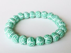 Preppy Green https://www.etsy.com/listing/163273899/polymer-clay-beads-bracelet-preppy-green?ref=shop_home_active_8