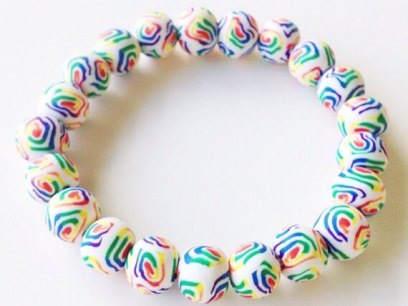 Rainbow Swirl https://www.etsy.com/listing/151865309/polymer-clay-beads-bracelet-rainbow?ref=shop_home_active