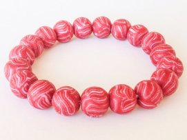 Candy Cane https://www.etsy.com/listing/165550788/polymer-clay-bead-bracelet-red-and-white?ref=shop_home_active