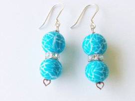 Ocean Breeze Earrings https://www.etsy.com/listing/155024121/turquoise-polymer-clay-beads-earrings?ref=shop_home_active