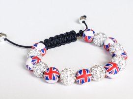 Union Jack Shamballa https://www.etsy.com/listing/158215381/shamballa-bracelet-polymer-clay-beads?ref=shop_home_active_7