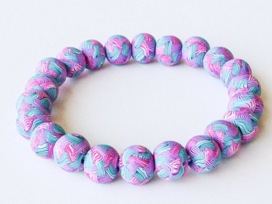 Woven https://www.etsy.com/listing/151858888/polymer-clay-bead-bracelet-green-pearl?ref=shop_home_active