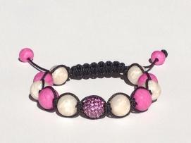 Fuchsia Pink and Pearl Shamballa https://www.etsy.com/listing/176050138/shamballa-bracelet-polymer-clay-beads?ref=related-0