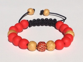 Red and Gold Shamballa https://www.etsy.com/listing/176050214/shamballa-bracelet-polymer-clay-beads?ref=shop_home_active_4