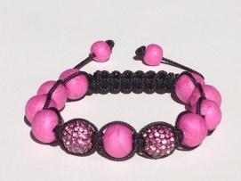 Fuchsia Pink Shamballa https://www.etsy.com/listing/176050060/shamballa-bracelet-polymer-clay-beads?ref=shop_home_active_2