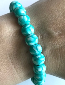 Handmade Polymer Clay Bead Bracelet