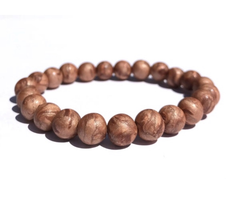 Metallic bead bracelet