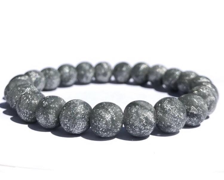 Silver glitter bead bracelet