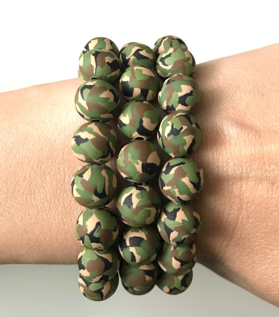 Camo bead bracelet