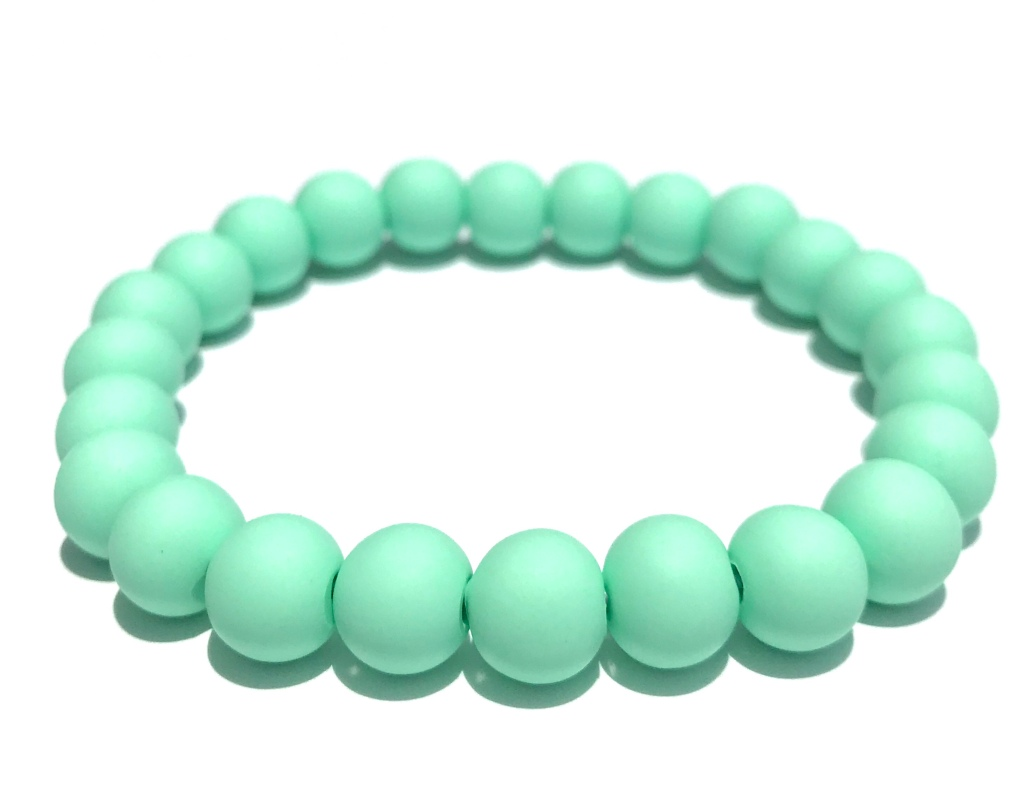Mint green bead bracelet